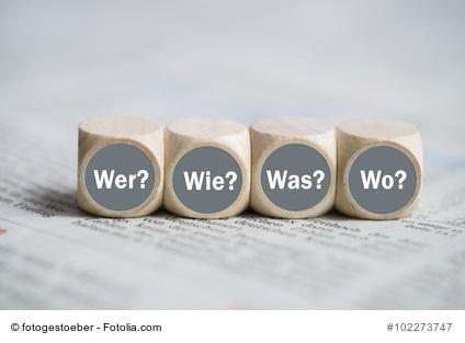 Informationen über LCHF - Würfel mit der Aufschrift wer? Was? wie? und Wo?
