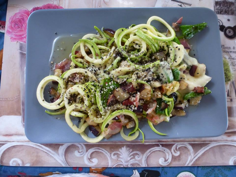 LCHF-Tellerspione KW 02 – 2018 - Zoodles matriciana