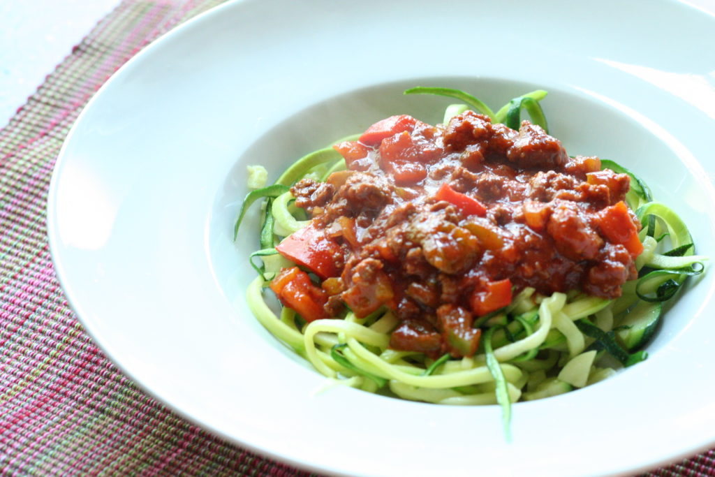 Zoodles Bolognese - LCHF-Tellerspione KW 12 – 2018