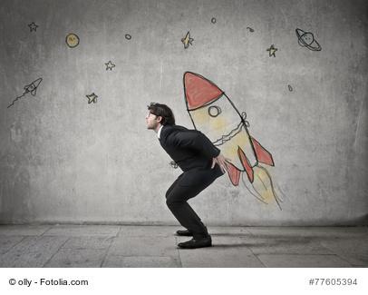 Erfolge mit LCHF - Mann auf Rakete