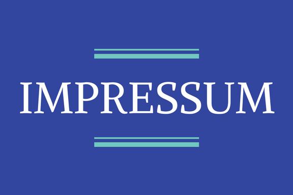 Aufschrift Impressum