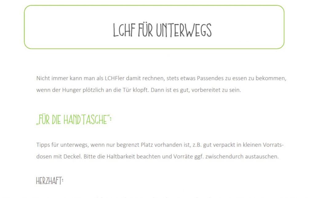 Vorschaubild Download von LCHF für unterwegs