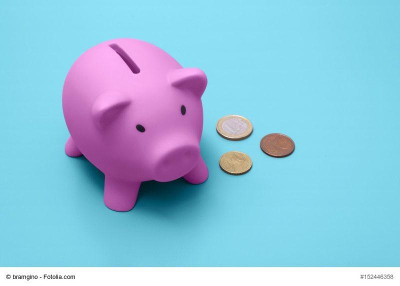 Ist LCHF teuer? Sparschwein und Münzen