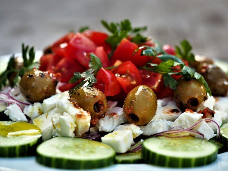 Foto von griechischer Bauernsalat