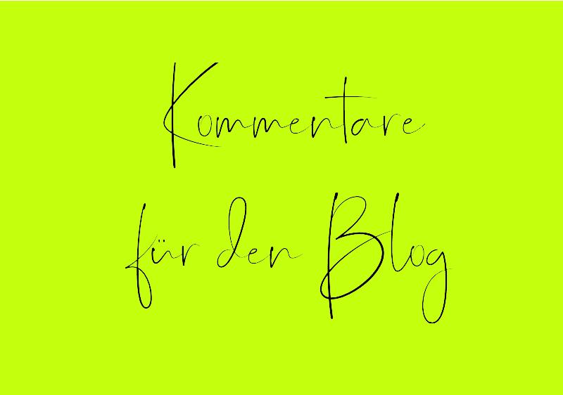 Kommentare für den Blog