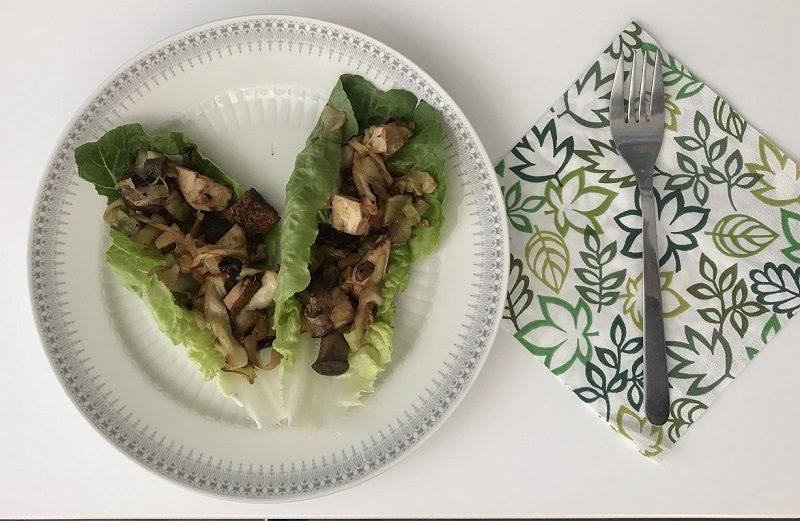 Champignons auf Salatbett - 7 Tage ohne Milchprodukte