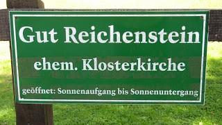 Schild von Gut Reichenstein - Text über satt sein