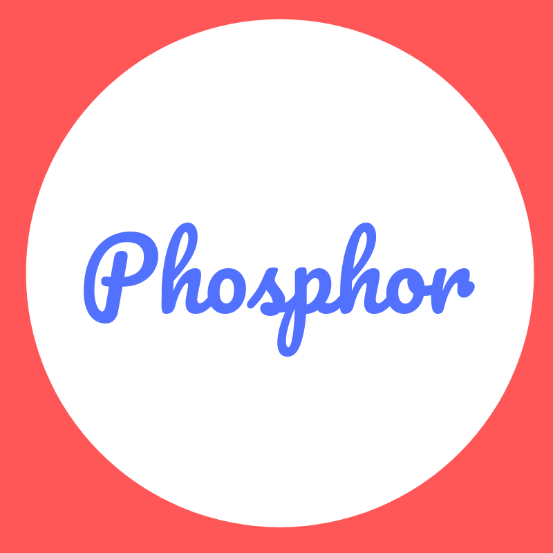 Wortbild Phosphor