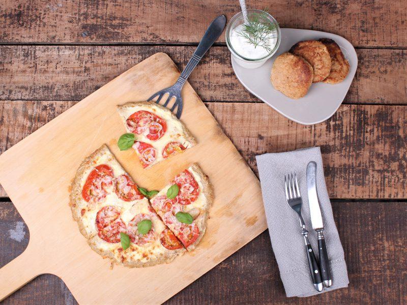Thunfischröstis mit Dillpdip und Pizza aus Thunfischmasse